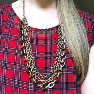 C+I Tortoise + Chain Convertible Chain Necklace ❤️